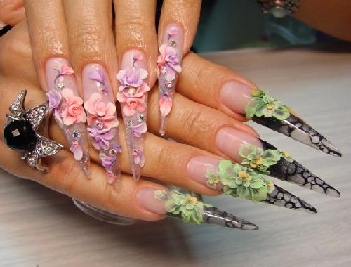 Лепка на ногтях: объёмный маникюр